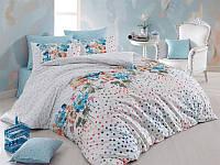 Двуспальное турецкое постельное бельё Majoli Sara v4 Mavi B08