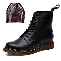 Оригинальные ботинки Dr.Martens 1460 с мехом (Черные) Размеры 43, 44, 45