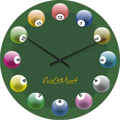 """Часы настенные """"Бильярд"""" (300мм) [Стекло, Открытые]"""