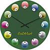 """Большие настенные часы """"Бильярд"""" (450мм) [Стекло, Открытые]"""