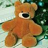 Маленький плюшевый медведь Бублик 55 см (коричневый)