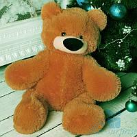 Маленький плюшевый медведь Бублик 55 см (коричневый), фото 1