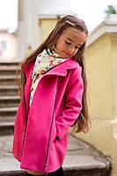 Детское пальто из кашемира с косой молнией