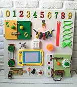 "Развивающая доска для детей ""Busy Board"", по методики Монтессори, размер 60х60, материал ДСП ламинированное"