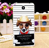 Силиконовый чехол для LG Max x155 с картинкой Bad Dog