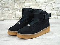 Кроссовки Nike Air Force High Black Gum мужские
