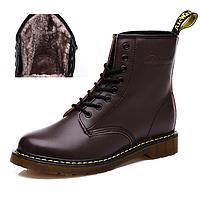 Оригинальные ботинки Dr.Martens 1460 с мехом (Коричневые) Размеры 43, 44, 45