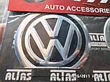 Наклейка емблема WOLKSWAGEN на колісний диск / ковпак d 60 мм, фото 2