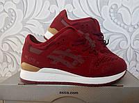 Женские кроссовки Asics бордового цвета, марсала, вишневый цвет, Асикс