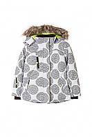 Куртка зимняя лыжная для девушек водонепроницаемая белая