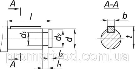 Цилиндрический вал мотор редуктора МР3-315