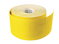 Желтая шлифовальная шкурка Бригадир Р100 115 мм * 50 м