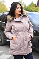 Женская теплая  куртка  (парка) большие размеры