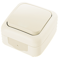 Выключатель 1кл. PALMIYE  IP54 (крем)