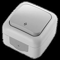 Выключатель 1кл. проходной PALMIYE  IP54 (серый)