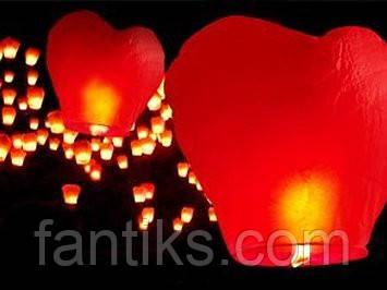 "Китайский фонарик ""Красное сердце"", фото 1"