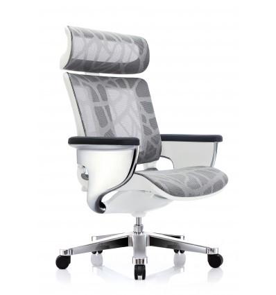 Офісне крісло-реклайнер Nuvem Silver Mesh