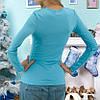 Женская кофта голубого цвета, фото 2