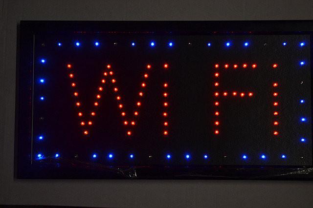 Светодиодная Вывеска Wi-Fi 48х25 см