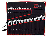 Intertool HT-1200 Набор ключей комбинированных 25 ед. (чехол) 6-32 мм CrV
