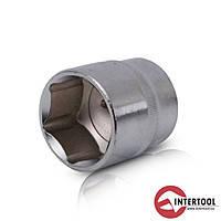 "Intertool ET-0030 Головка шестигранная 1/2"" 30мм х 44мм Хром - Ванадиум"
