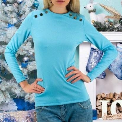 Женская кофта голубого цвета
