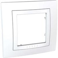 Рамка SCHNEIDER Unica Basic MGU2.002.18 c декоративным элементом, 1 место белый