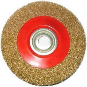 Щетка для металла Щ 506 Бригадир Standart для точила гофрированная проволока 200 мм