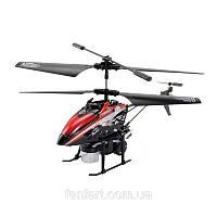 Вертолёт 3-к микро и/к BUBBLE мыльные пузыри (красный)/П