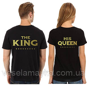 Парная футболка King and Queen