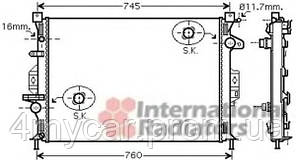 Радиатор Mondeo / FREEL / V / S80 AT 06- (Van Wezel) (производство VAN WEZEL ), код запчасти: 18002425