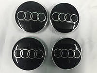 Audi A4 2015+ Заглушки в титановые диски 55,5 мм внутренний диаметр