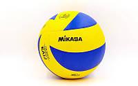 Мяч волейбольный клееный MIKASA MVA-330 (PU, №5, 3 слоя)