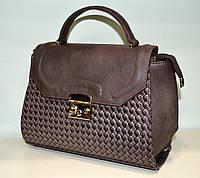"""Классическая женская сумка через плечо """"Wallaby"""" коричневая"""