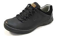 Туфли мужские  спортивные ECCO кожаные, черные (еко)(р.41,42)