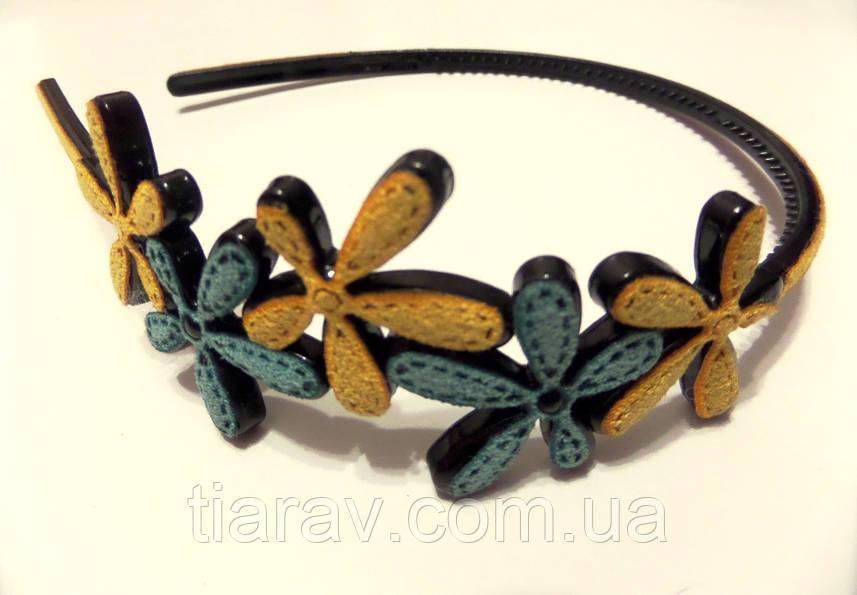 Обруч ободок для волос цветочки аксессуары украшения