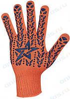 Перчатки Budowa оранжевые (аналог со звездой)