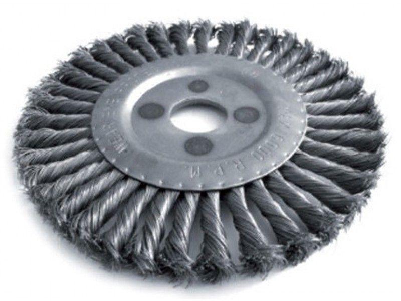 Щетка для металла Щ 806  Бригадир Standart  круглая для УШМ, плет. пров. 150 мм, 32 мм