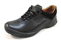 Туфли мужские  ECCO кожаные, черные (еко)(р.40,41,42)