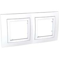 Рамка SCHNEIDER Unica Basic MGU2.004.18 c декоративным элементом, 2 места белый