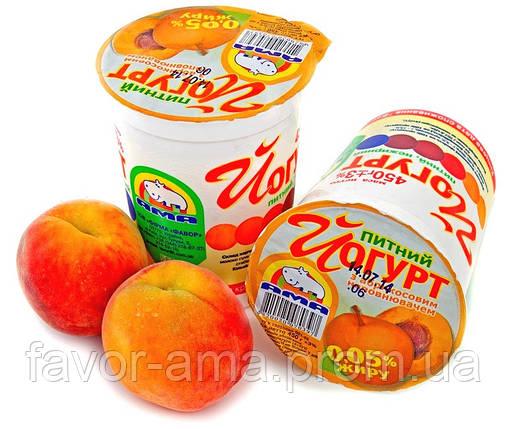 Йогурт питьевой нежирный АМА абрикос 0,05%, фото 2