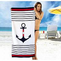 Красивое пляжное полотенце - №1793, Цвет белый