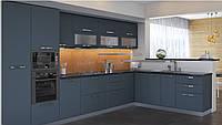 Кухня София Престиж Кухня 2 метра, серый супермат