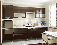 Кухня София Престиж Кухня 2 метра, шоколад глянец