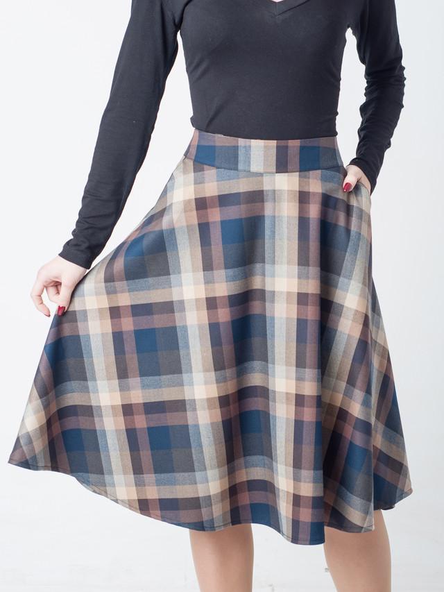 Тёплая клетчатая юбка