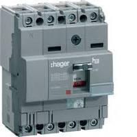 Автоматический выключатель 160A 25KA 4 полюса HHA161H Hager