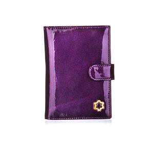 Обложка для паспорта женская кожаная Bristan Wero фиолетовая, фото 2
