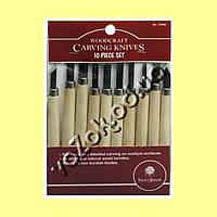 Набор резцов стамесок по дереву Woodscraft Carvin Knives, 10 шт, фото 1