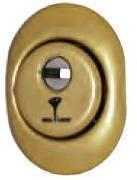 Защитная броненакладка врезная A615 (золото) Mul-t-lock