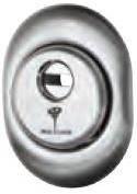 Защитная броненакладка врезная A615 (хром) Mul-t-lock